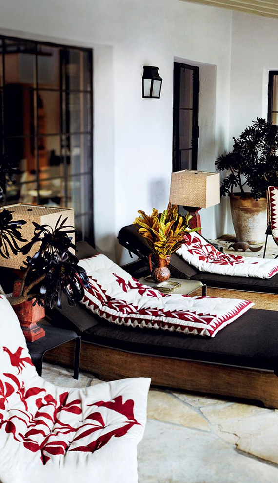 Home of Mario Testino via Vogue