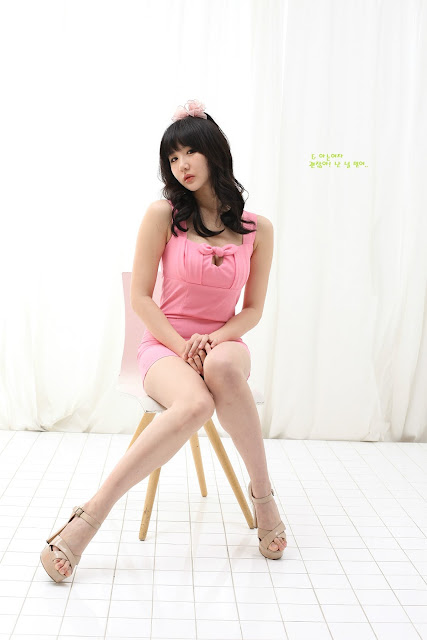 5 Yeon Da Bin in Pink - very cute asian girl - girlcute4u.blogspot.com