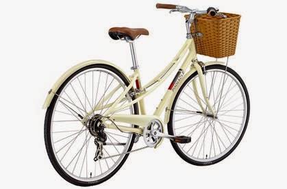basket bike, midcentury style