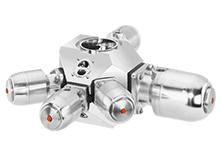 multiport valve block for pharma and food and beverage processing