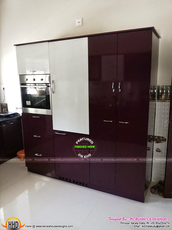 Refrigerator unit in Kitchen