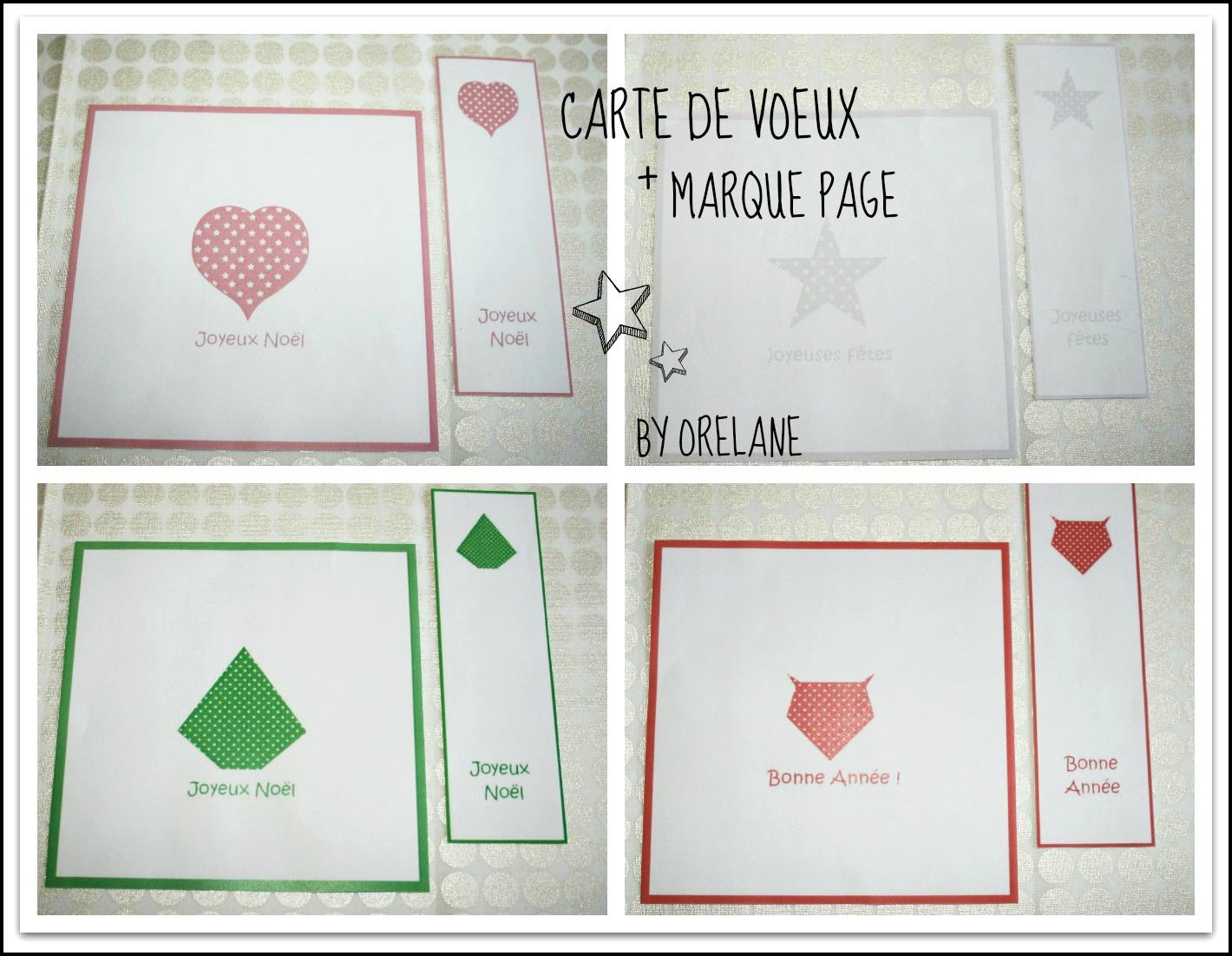 Orelane cartes de voeux et marque pages imprimer - Fabrication de marque page ...