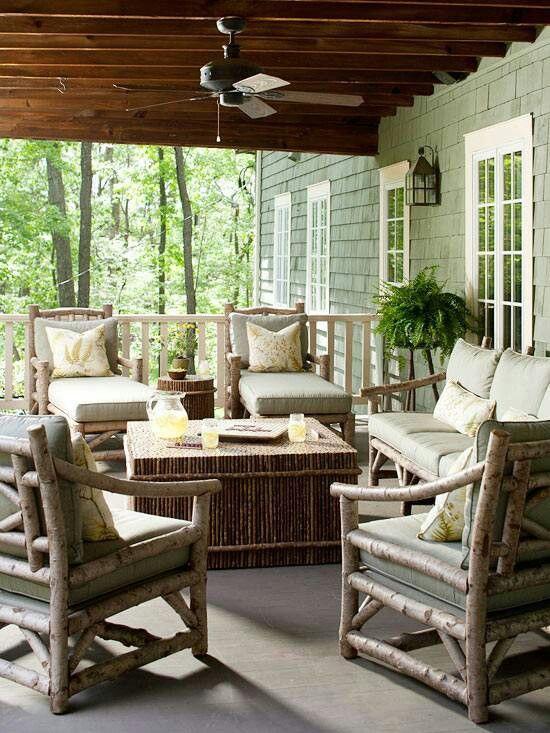 mobiliario de jardim rustico:Decoração do terraço em estilo rústico ~ Ás nove em ponto
