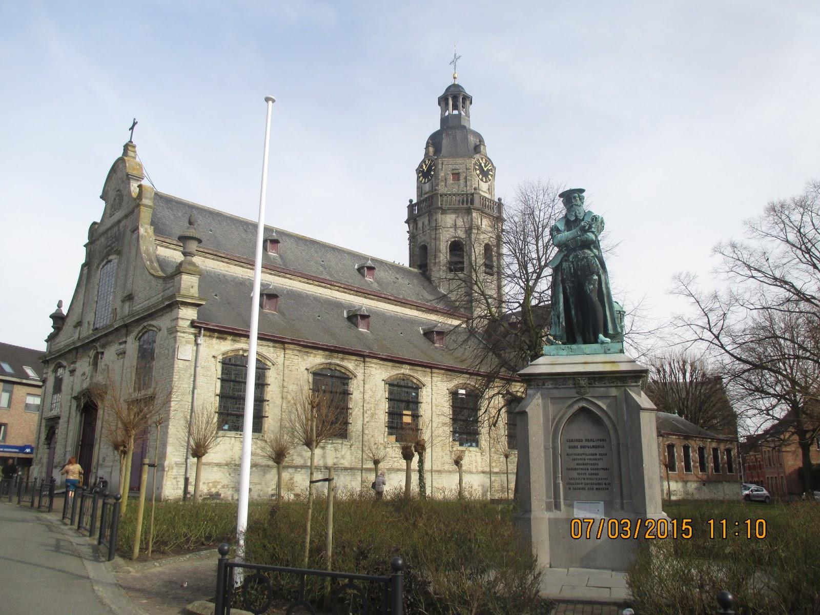 standbeeld Mercator in Rupelmonde