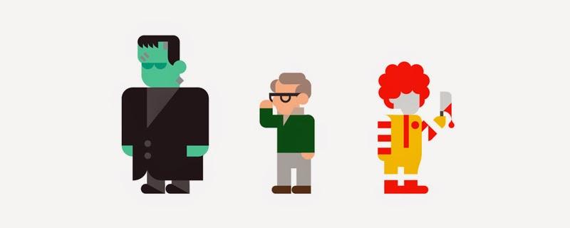 Tus personajes favoritos en flat design