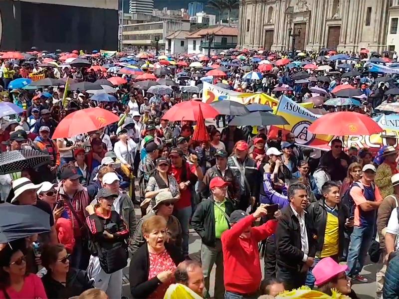 El Paro del Magisterio se tomó las capitales y quiere tomarse Colombia