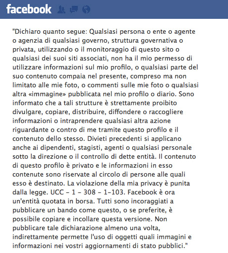 bufala minitero interni poste facebook