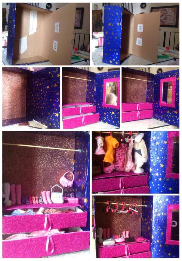 Pequemanualidades manualidades con cajas - Como hacer un armario de carton ...