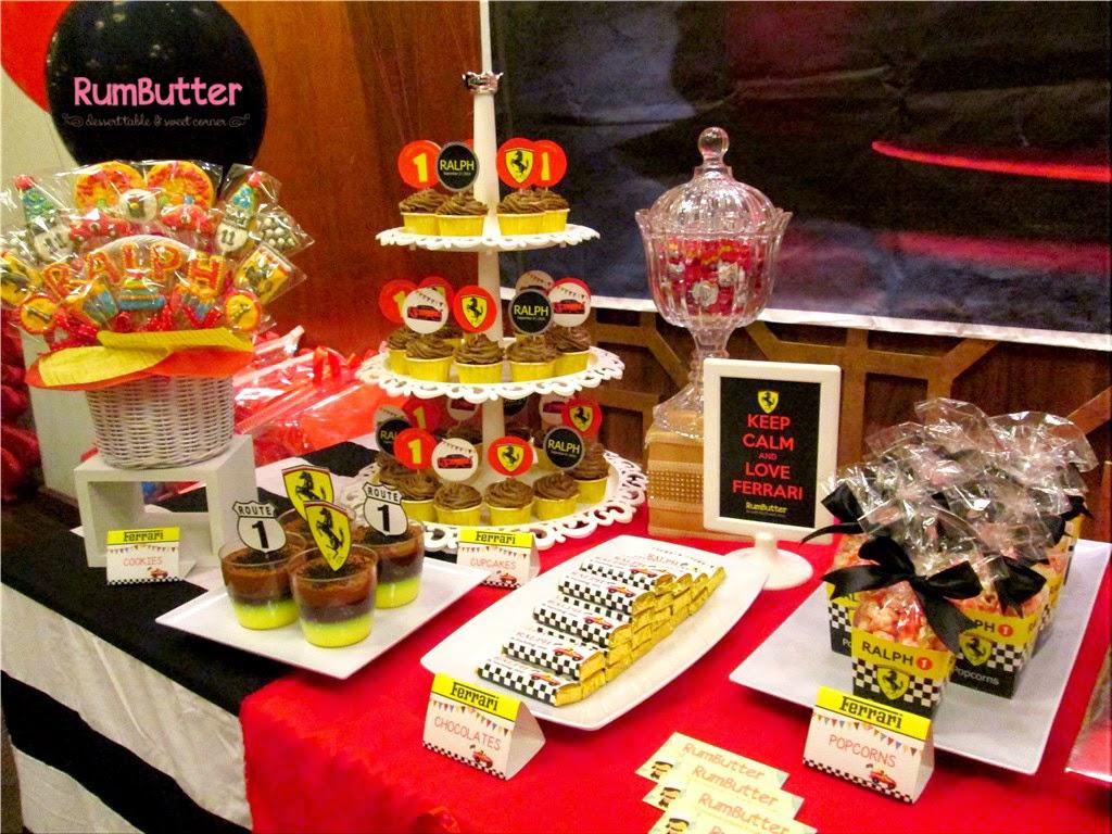 Rumbutter Sweet Corner Dessert Table Ralphs 1st Birthday Sweet
