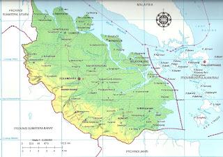 Peta Propinsi Riau pulau Sumatera