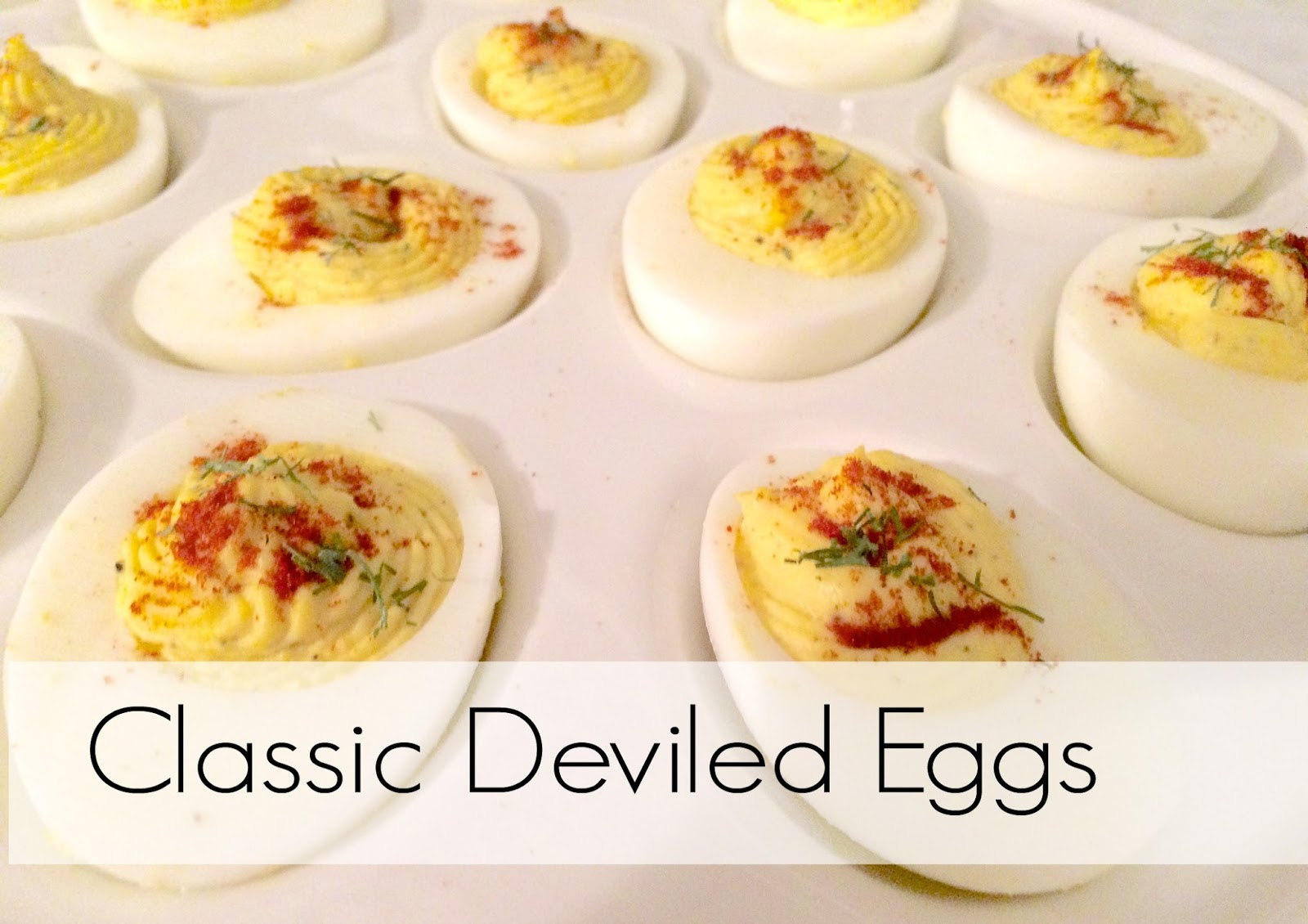 This Little House of Mine: Classic Deviled Eggs Recipe