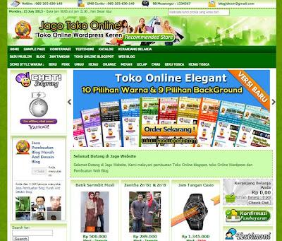 Demo Toko Online Wordpress
