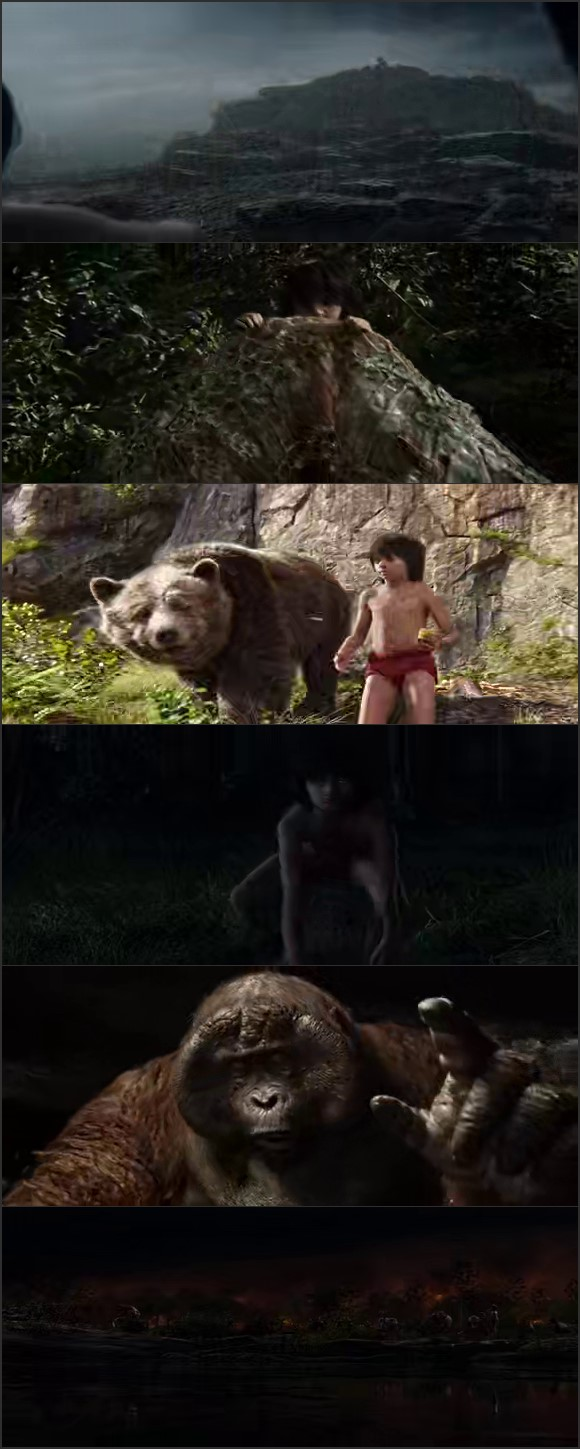 Screen Shot Of The Jungle Book 2016 In Hindi English Dual Audio Bluray
