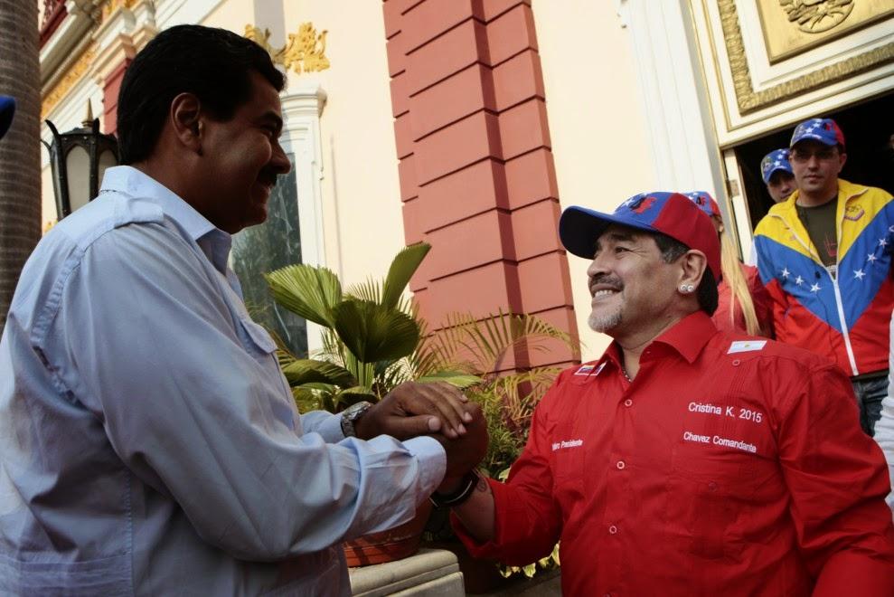 maradona roba el dinero de venezuela