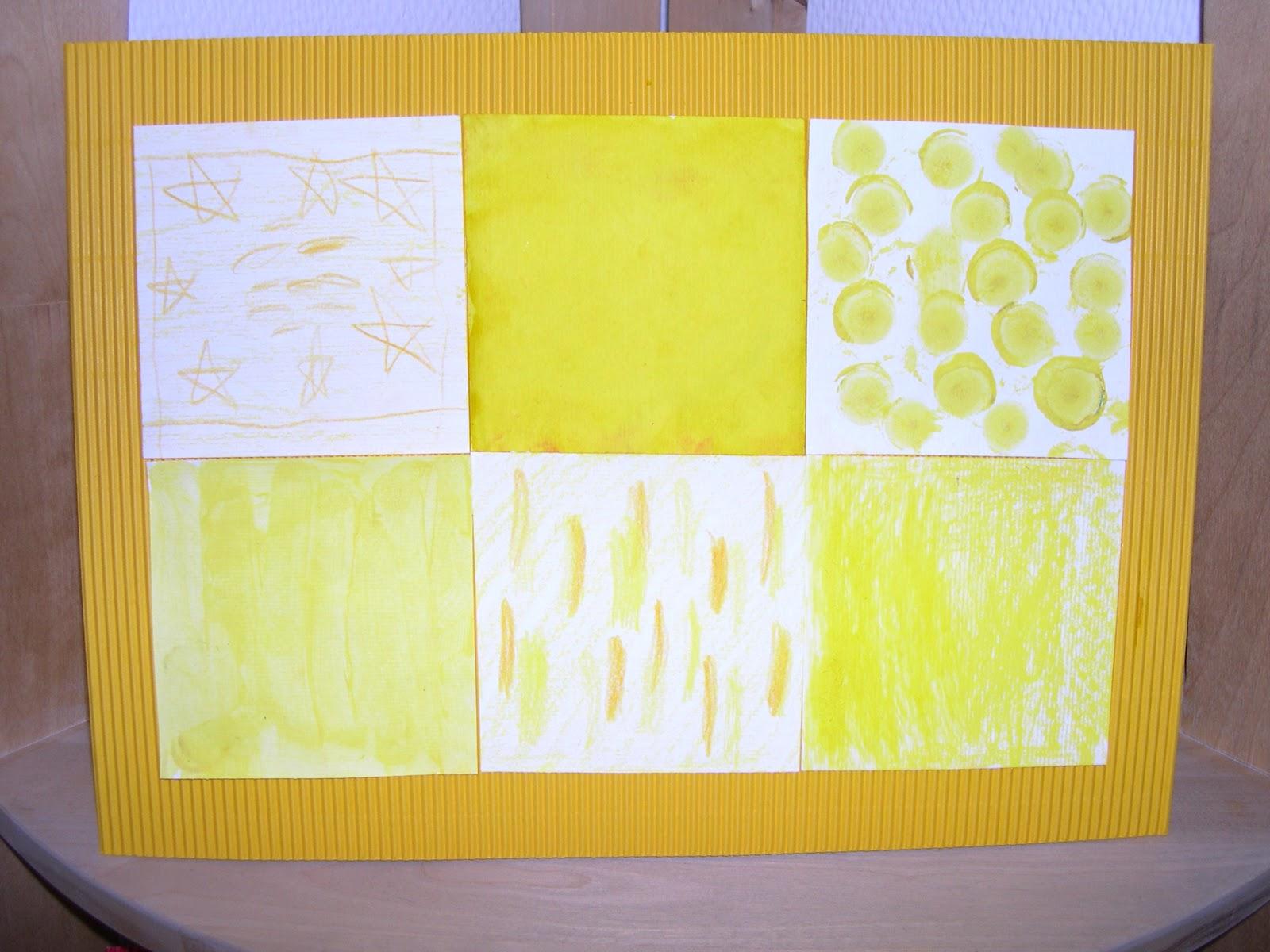 wir bieten den kindern nur gelbe farben zum malen an und dabei