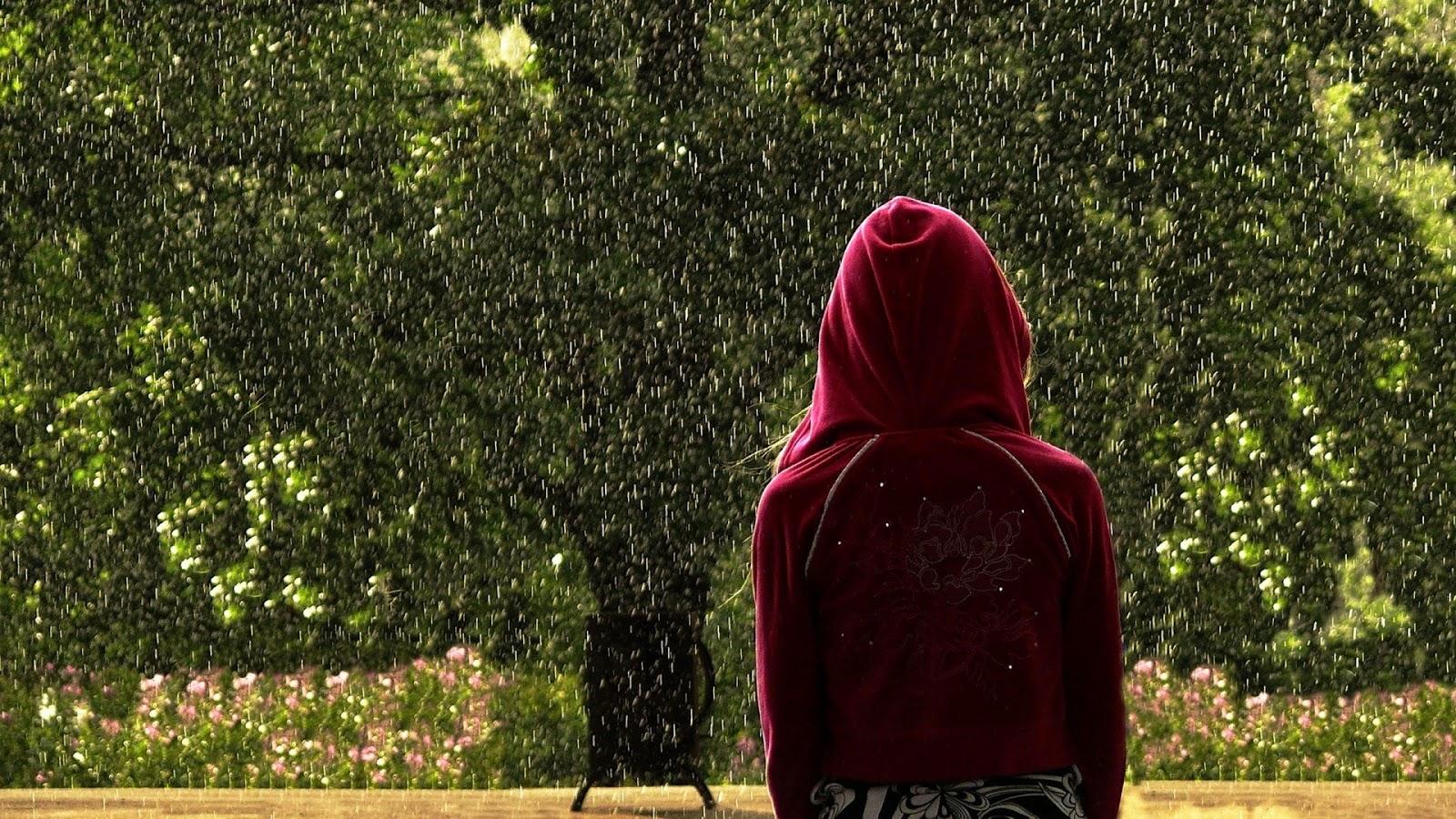 Girl in rain wallpapers