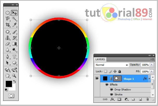 Cara membuat efek stroke warna-warni dengan photoshop