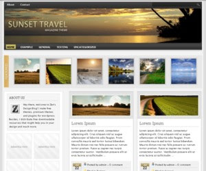 Sunset Travel WordPress Theme