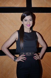 Gauhar Khan Slim Fit and Spicy Looks in black Dress at Alma laser Skin Clinic Launch Mumbai