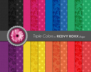 Redvy Roxx's Printable Triple Colors Patterns available on etsy