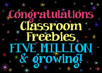 5 million page views - Classroom Freebies