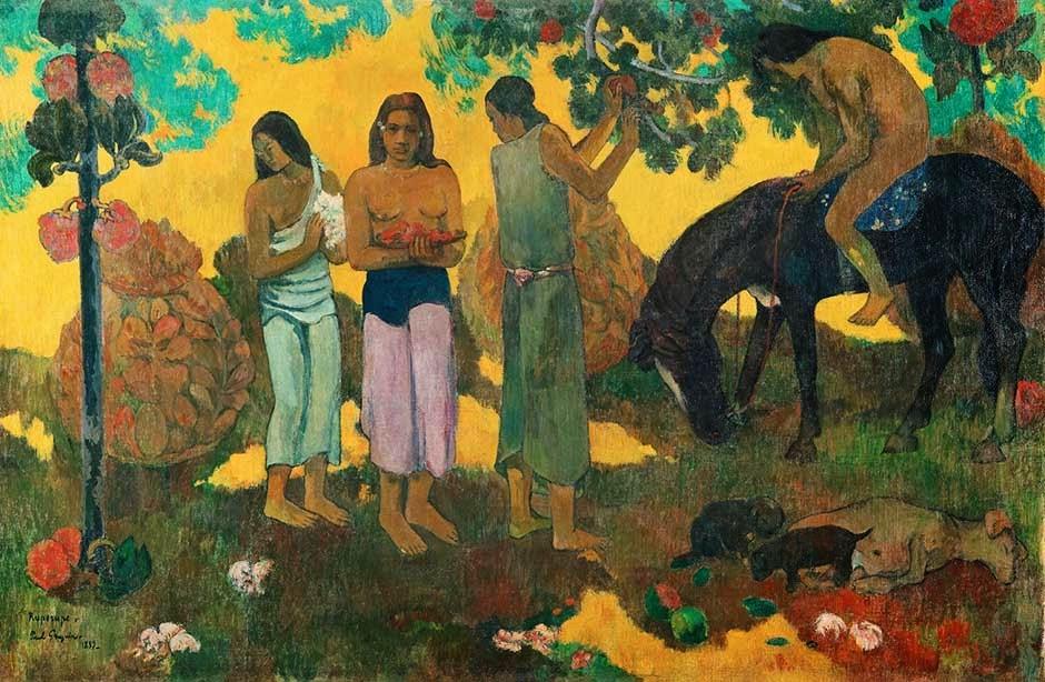 Gauguin -Rupe Rupe, La cueillette des fruits , 1899,