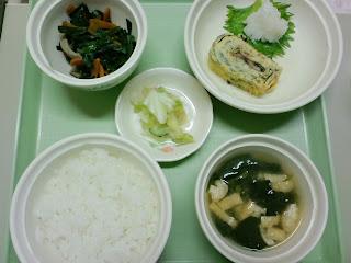 写真:パルス入院1クール7日目の夕食