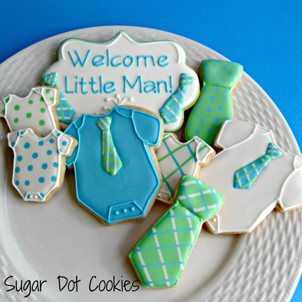 Sugar Dot Cookies Baby Boy Shower Sugar Cookies With Royal Icing