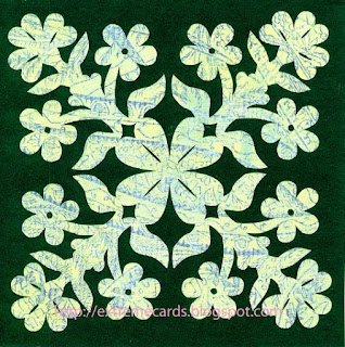 papercut shamrock hawaiian quilt square