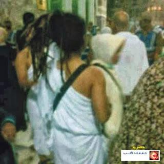 فضيحة فتاة لبنانية ترتدي ملابس الاحرام الخاصه بالرجال 99.jpg