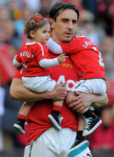Friendly Match Gary Neville and his Son Manchester United vs Juventus