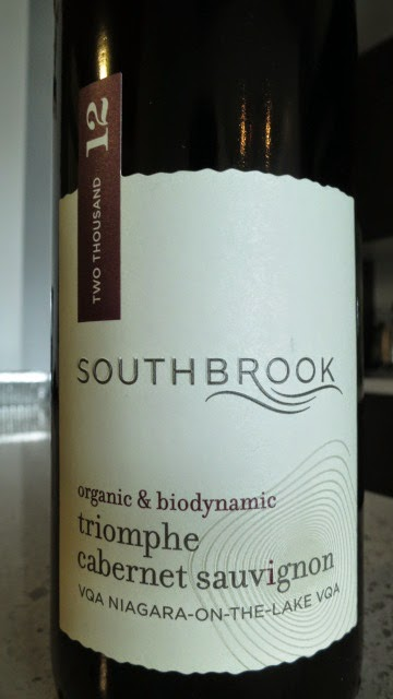 Wine Review of 2012 Southbrook Triomphe Cabernet Sauvignon from VQA Niagara-on-the-Lake, Ontario, Canada