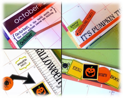 SRM Stickers BLog - Guest Designer - Jennifer Pohl - Planner Perfection! - #planner #october #halloween #calendarmonths #labels #twine #glassinebag #stickers #school #cooking #recipes