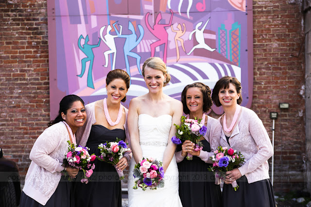 bridal party downtown Indianapolis