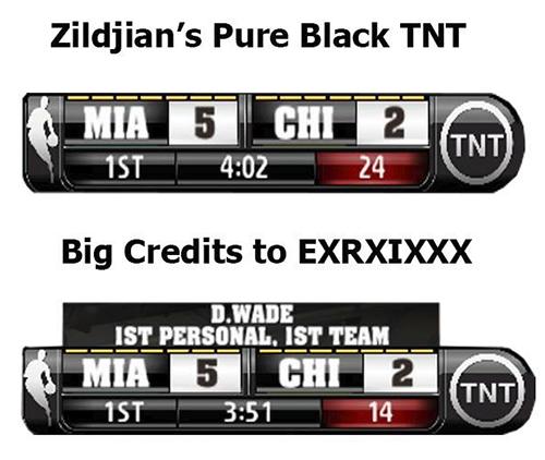 NBA 2K14 Black TNT Scoreboard Mod