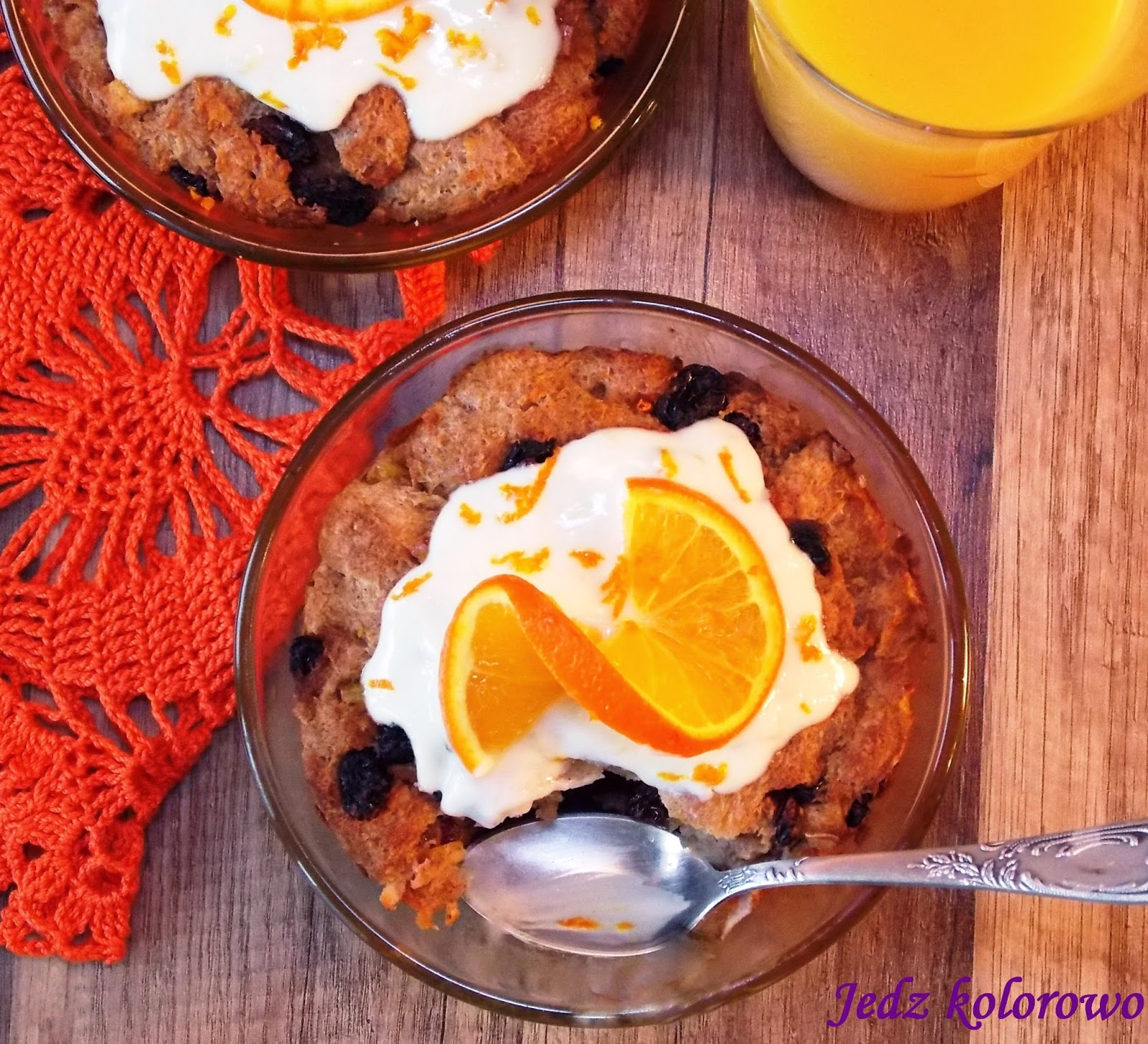pudding chlebowy - bread pudding
