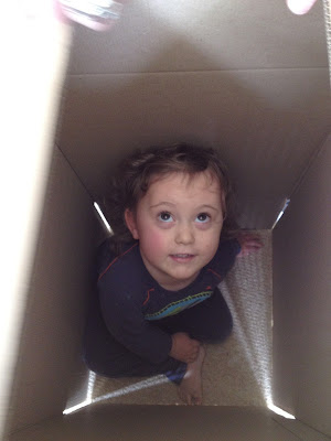Day 140 of The 366 Project, box, toddler, play