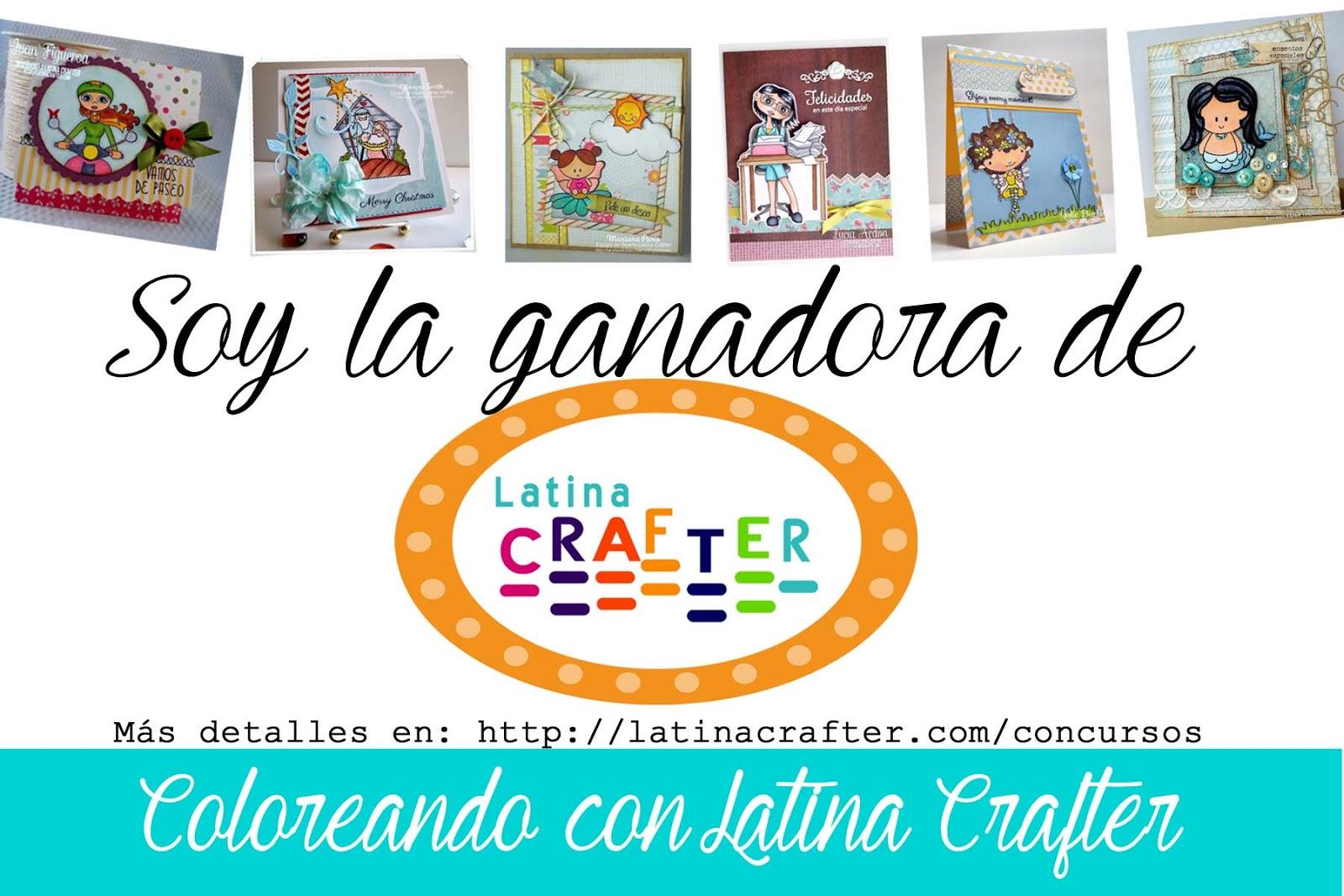 Ganadora del Concurso Colorea con Latina Crafter