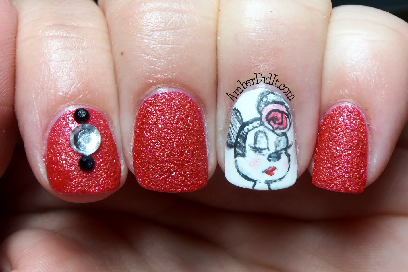 Amber did it!: OPI Magazine Cover Mouse and MInnie Nail Art