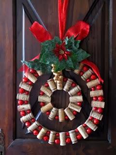Corona de Navidad con Corchos, Paso a Paso