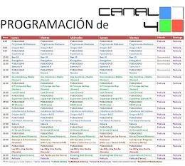 PROGRAMACIÓN CANAL 4