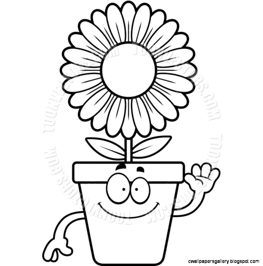 Flower Pot Clipart Black And White  Clipart Panda   Free Clipart