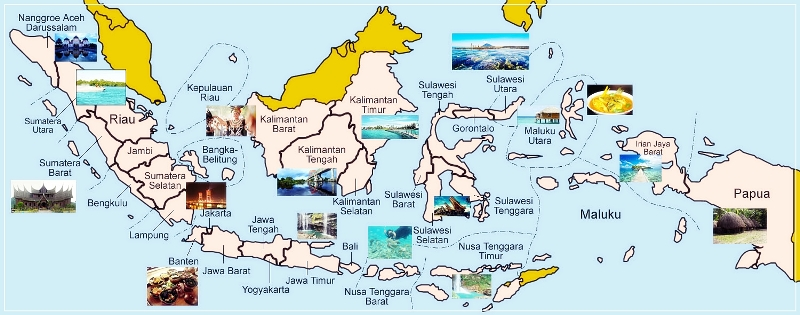 Indonesia Map Tourism - Map indonesia