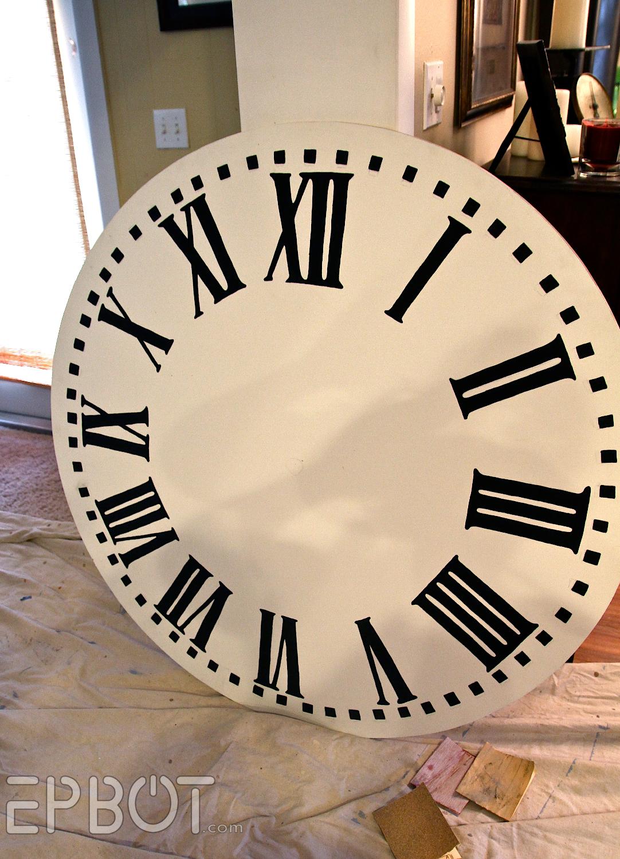 Epbot diy giant tower wall clock amipublicfo Choice Image