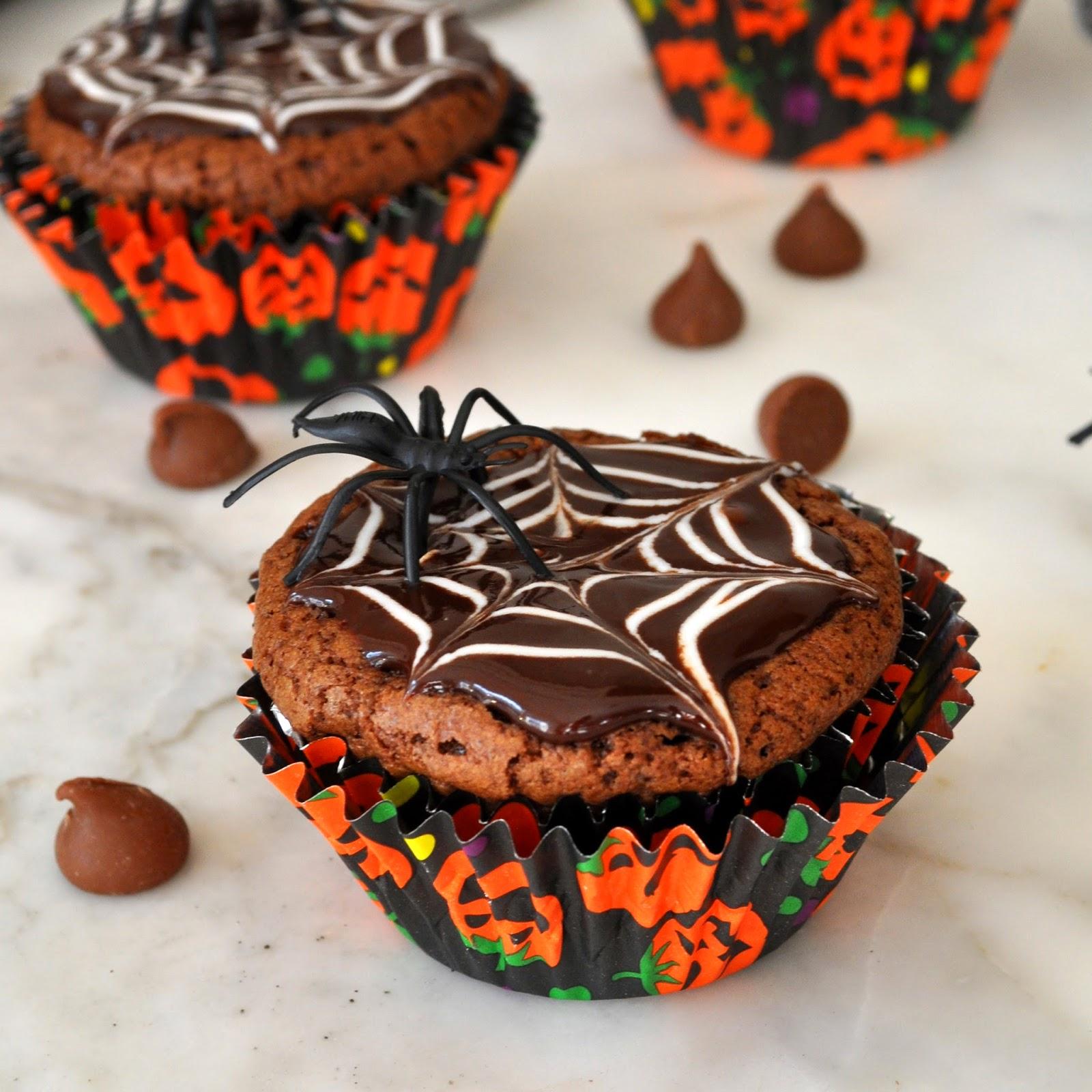 homemade halloween brownie cupcakes recipe - Halloween Brownie Recipe