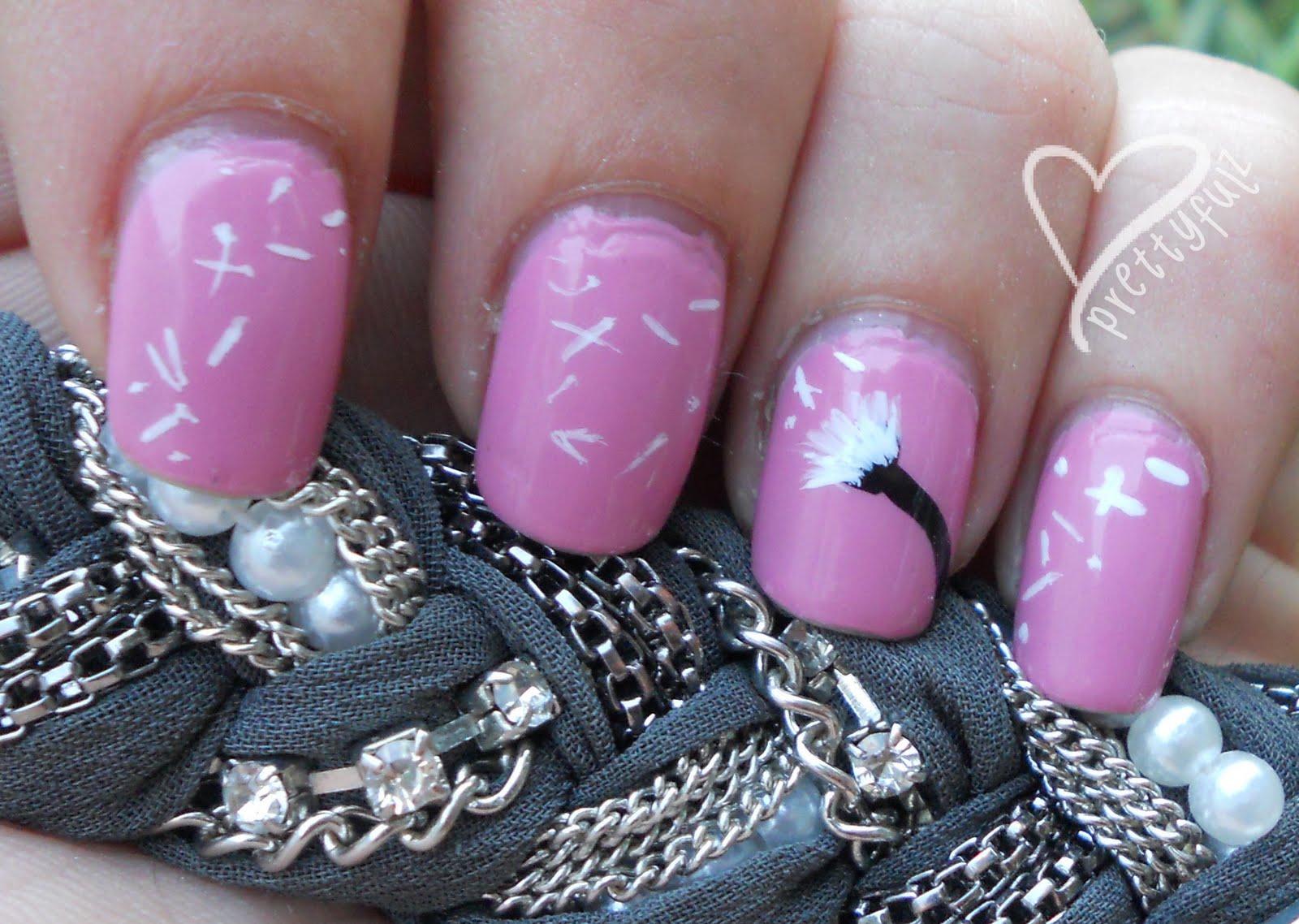 Prettyfulz: Make a wish! Dandelion Nail Art Design & Tutorial!!