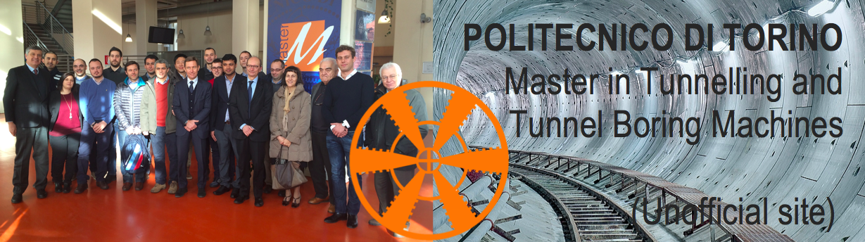 Master in tunnelling and tbms politecnico di torino for Master politecnico