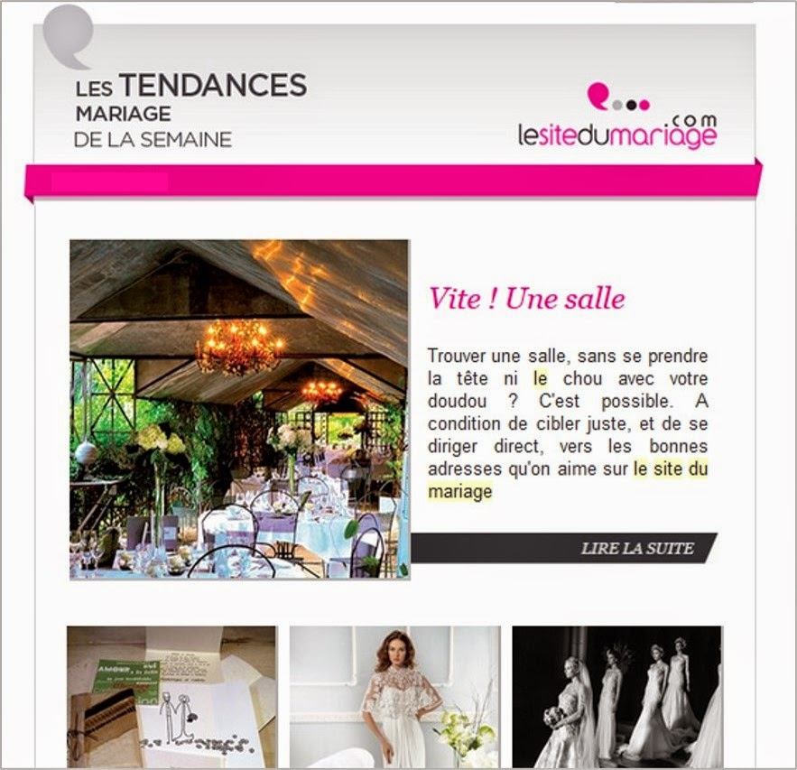 blog mariage inspiration bonnes idées newsletter ThatsMee.fr