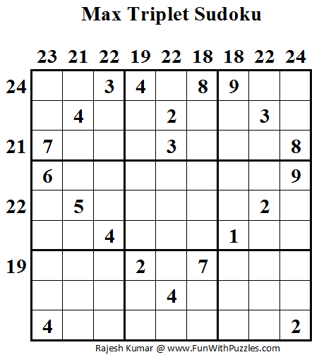 Max Triplet Sudoku (Daily Sudoku League #49)