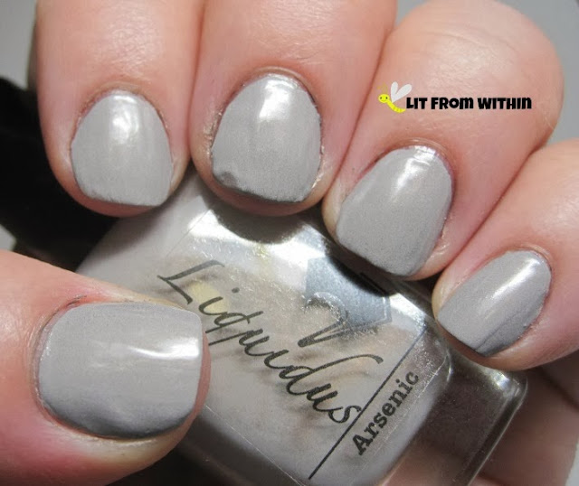 Liquidus Arsenic, a grey creme with a *very* subtle gold shimmer